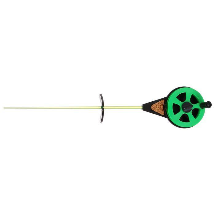 Удочка зимняя 'Балалайка' УС-3, хлыст поликарбонат, цвет зелёный (комплект из 10 шт.) - фото 2