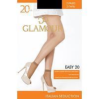 Носки женские (2 пары) GLAMOUR Easy 20 ден, цвет чёрный (nero)