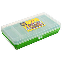Коробка 'Тривол' ТИП-5, двухъярусная c микролифтом, 210х110х50 мм, цвет тёмно-зелёный