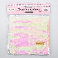 Ткань для пэчворка 'Белая-розовая', 33 x 33 см