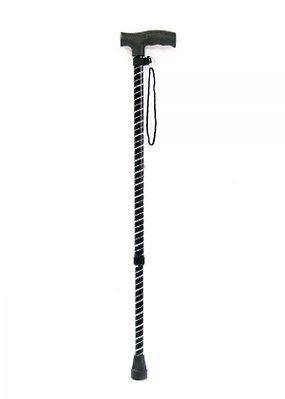 """Трость телескопическая Мега-оптим ТР1 (ПР) с блестящей стойкой """"Спираль"""""""