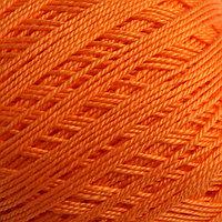 Пряжа 'Ажурная' 100 мерсеризованный хлопок 280м/50гр (485-Жёлтооранжевый)