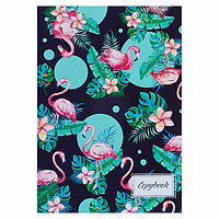 Тетрадь А4, 48 листов в клетку 'Фламинго', обложка мелованный картон, блок офсет (комплект из 3 шт.)