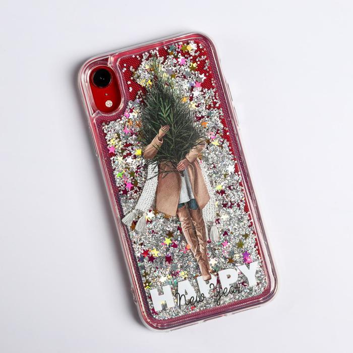 Чехол - шейкер для телефона iPhone XR 'Елочка', 7,6 х 15,1 см - фото 1