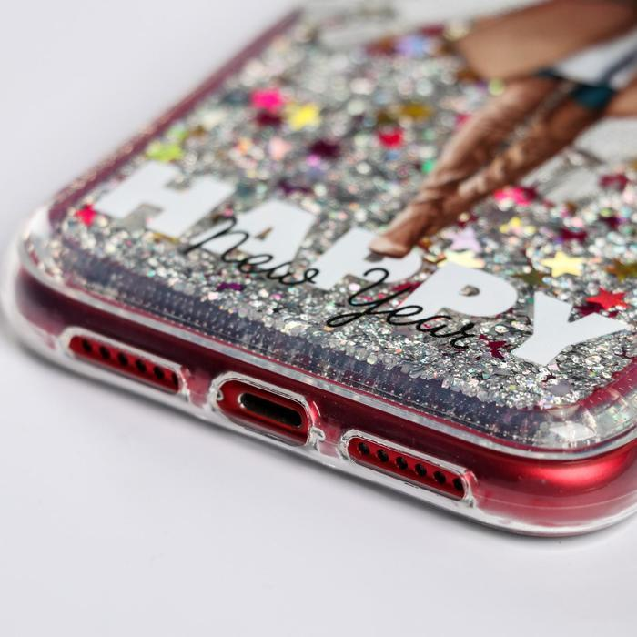 Чехол - шейкер для телефона iPhone XR 'Елочка', 7,6 х 15,1 см - фото 2