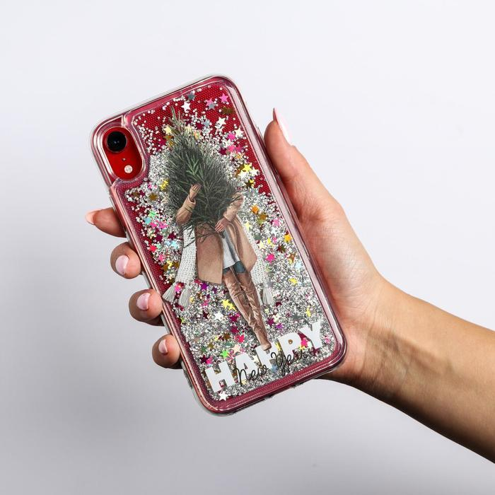 Чехол - шейкер для телефона iPhone XR 'Елочка', 7,6 х 15,1 см - фото 3