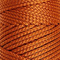 Шнур для вязания без сердечника 100 полиэфир, ширина 3мм 100м/210гр, (103 песочный)