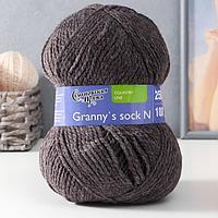 Пряжа Grannys sock N (Бабушкин носок Н) 100акрил 250м/100гр т.натуральный (574) (комплект из 3 шт.)