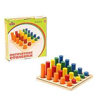 Головоломка 'Столбики логические', 25 цветных фигур