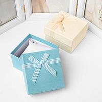 Коробочка подарочная под часы 'Гипюровый бант' дабл, 9*9см, цвет МИКС (комплект из 6 шт.)