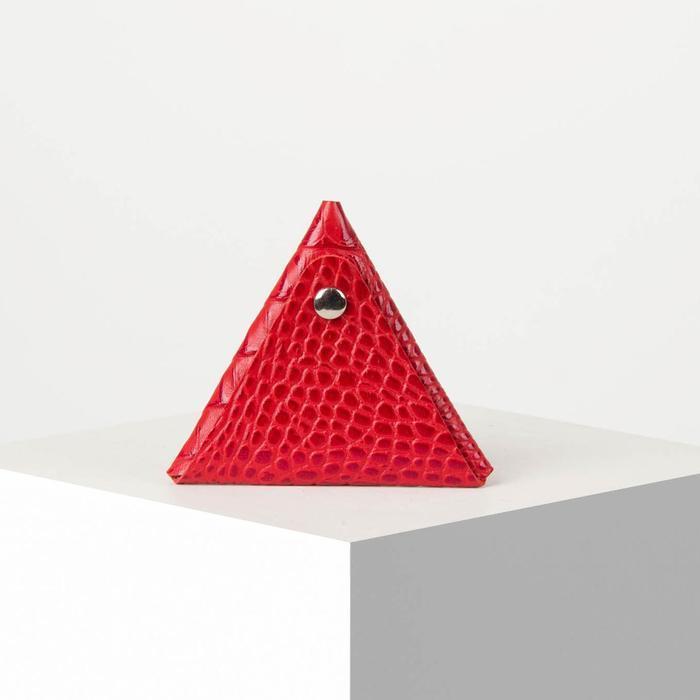 Футляр для монет/наушников на кнопке, цвет красный - фото 1