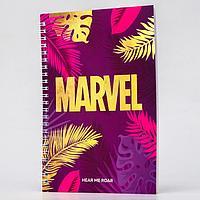 Блокнот А5 на гребне, в твердой обложке с тиснением, 60 листов, Marvel , Мстители