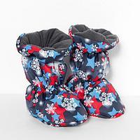 Пинетки-сапожки для мальчика, цвет синий (6-12 месяцев)