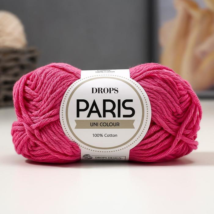 Пряжа 'Paris' 100 хлопок 75м/50гр (06 ярко-розовый) - фото 1