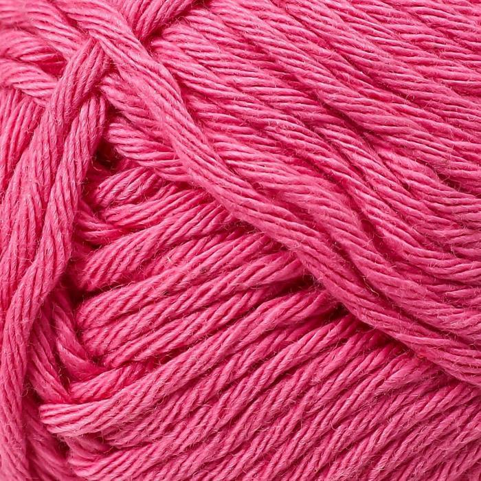 Пряжа 'Paris' 100 хлопок 75м/50гр (06 ярко-розовый) - фото 3