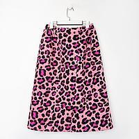 Полотенце для бани Leopard женское парео, 80х150±4 см,хл., ваф. полотно, 160 гр/м2
