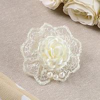 Бант для девочек с резинкой 'Ажурная роза', 8 см, микс (комплект из 100 шт.)