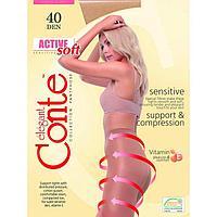 Колготки женские CONTE ELEGANT ACTIVE SOFT 40 den, цвет натуральный (natural), размер 3
