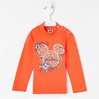Водолазка для девочки, цвет оранжевый, рост 98 см