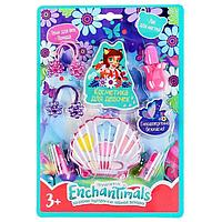 Косметика для девочек 'Энчантималс', тени для век, помада, лак для ногтей