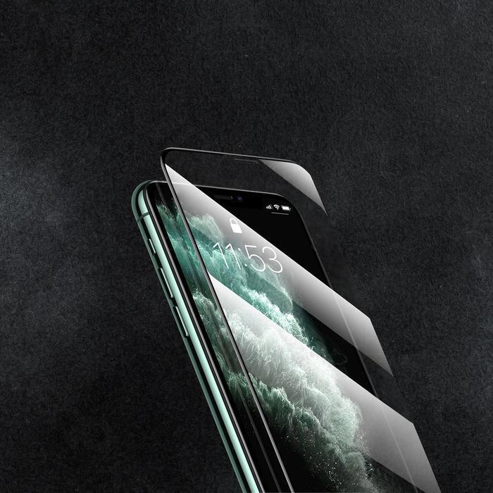Защитное стекло 9D LuazON для iPhone Xr/11 (6.1'), полный клей, 0.33 мм, 9H - фото 5