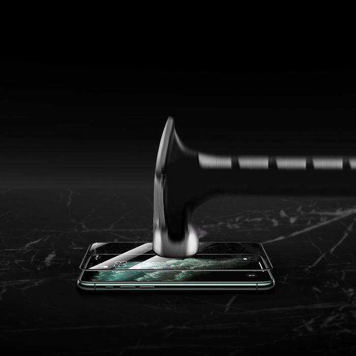 Защитное стекло 9D LuazON для iPhone Xr/11 (6.1'), полный клей, 0.33 мм, 9H - фото 7