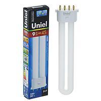 Лампа энергосберегающая Uniel, 2G7, 9 Вт, 4000 К, холодный белый