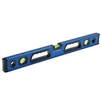Уровень алюминиевый магнитный TUNDRA, фрезерованный, эргономичные ручки, 3 глазка, 600 мм