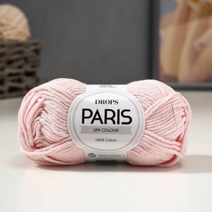 Пряжа 'Paris' 100 хлопок 75м/50гр (57 бл. розовый) - фото 1