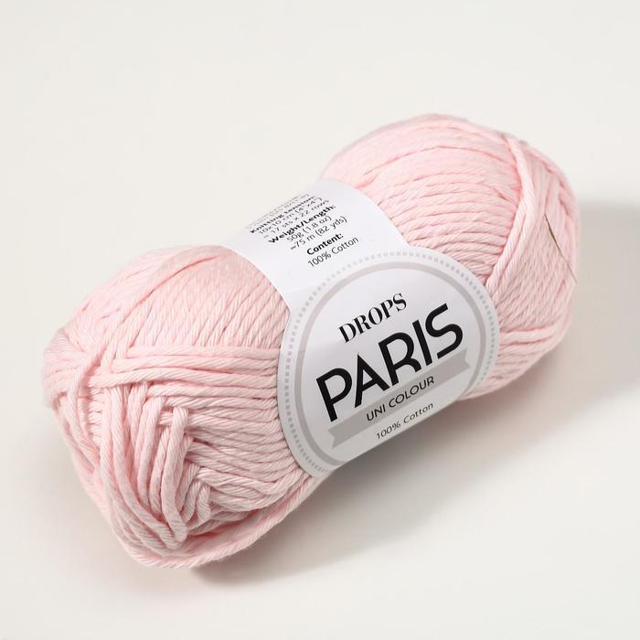 Пряжа 'Paris' 100 хлопок 75м/50гр (57 бл. розовый) - фото 2
