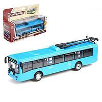 Троллейбус металлический 'Город', масштаб 172, инерция