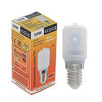 Лампа светодиодная Ecola, T25, 3 Вт, E14, 4000 K, 340, для холодильников и швейных машин