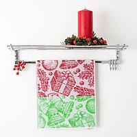 Полотенце махровое Privilea, арт. 19С4 рисунок Подарок 2, цвет красный, размер 50х30, 100 448839