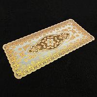 Салфетка ажурная, 84x40 см, цвет золото (комплект из 12 шт.)