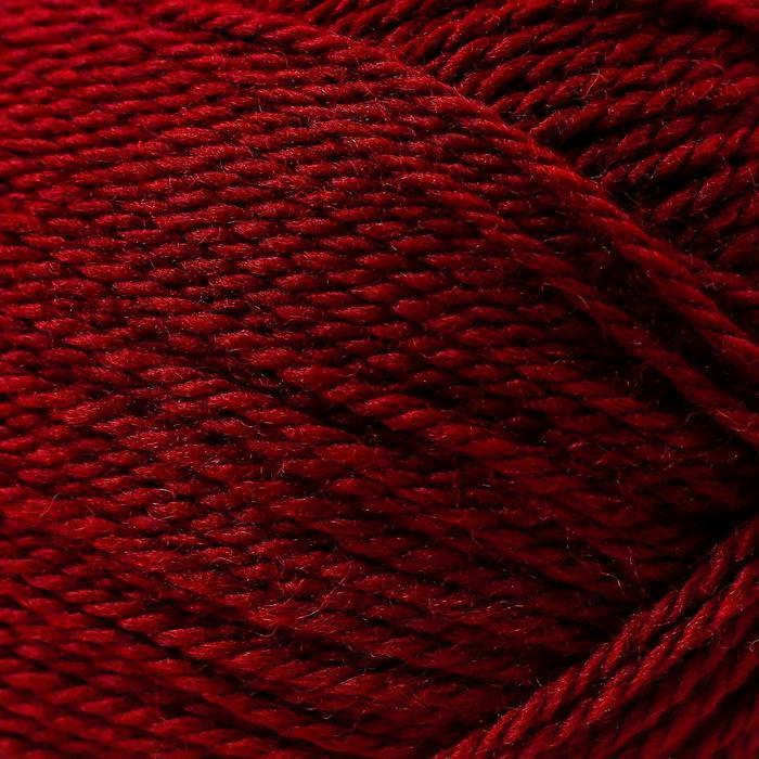Пряжа 'Мериносовая' 50меринос.шерсть, 50 акрил 200м/100гр (07-Бордо) - фото 3