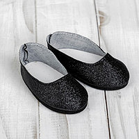 Туфли для куклы 'Блёстки', длина стопы 7 см, цвет черный