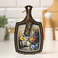 Доска декоративная 'Яркие цветы в вазе', 22,6х13,5х0,5 см