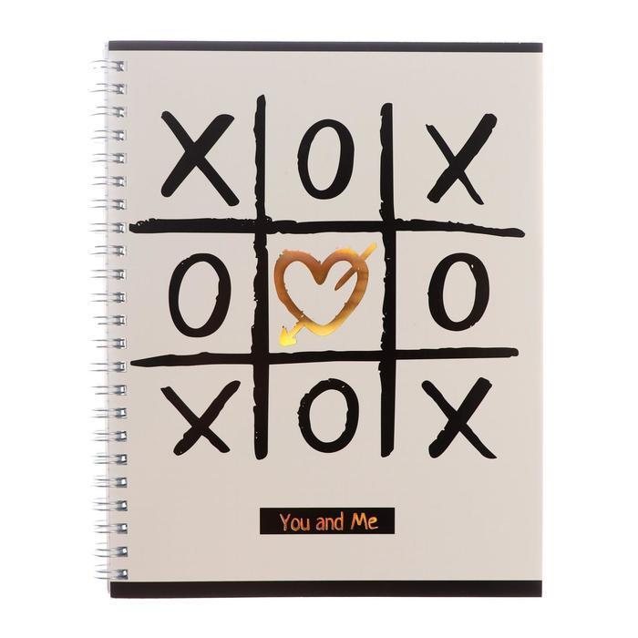 Тетрадь 80 листов в клетку 'Ты и я', обложка мелованный картон, тиснение фольгой, блок офсет, МИКС (комплект - фото 4