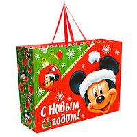 Пакет подарочный ламинированный 'Подарок от деда Мороза', Микки Маус, 61 х 46 х 20 см