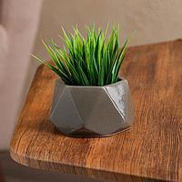 Кашпо 'Оригами', коричнево-серое, керамика, 0.2 л