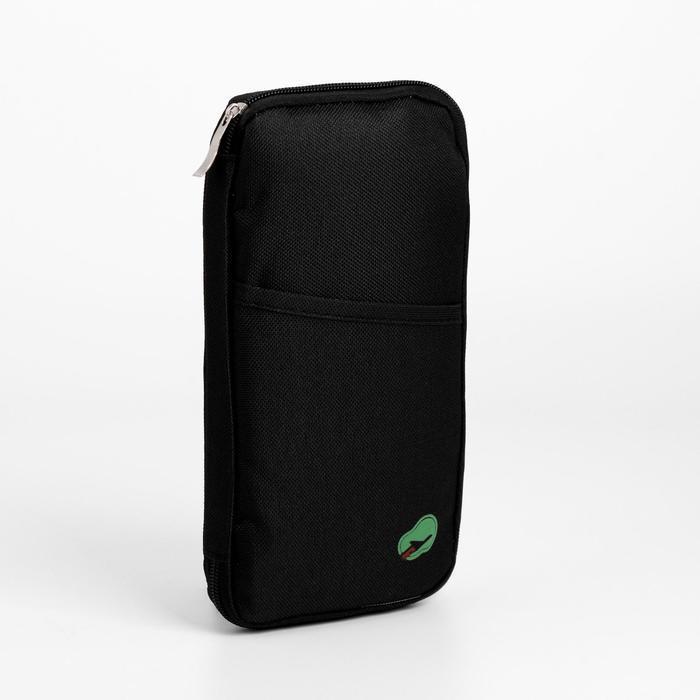 Косметичка-органайзер, отдел на молнии, наружный карман, цвет чёрный - фото 1
