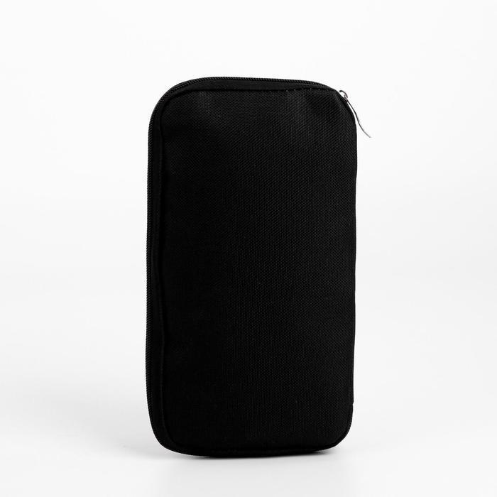 Косметичка-органайзер, отдел на молнии, наружный карман, цвет чёрный - фото 2