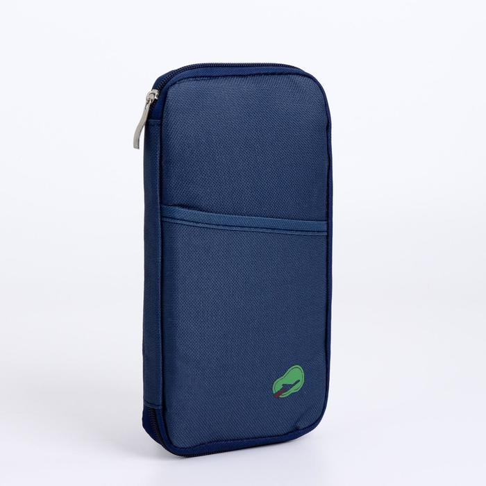 Косметичка-органайзер, отдел на молнии, наружный карман, цвет синий - фото 1