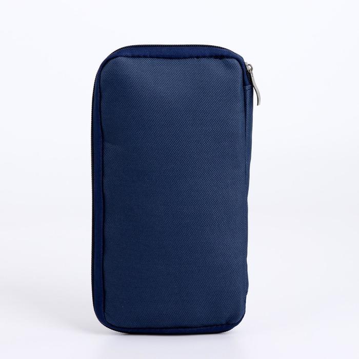 Косметичка-органайзер, отдел на молнии, наружный карман, цвет синий - фото 2