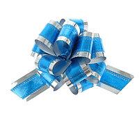 Бант-шар 5 синий в серебре