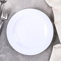 Тарелка под сублимацию Доляна 'Классика', d20 см, цвет белый