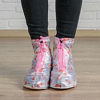 Чехлы для обуви 'Розовая нежность' Размер XL. надеваются на размеры обуви 35-36