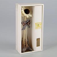 Набор подарочный 'Эйфелева башня' (ваза, 2 палочки с шариками, декор, аромамасло 30 мл), аромат лимон