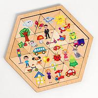 Пазл деревянный 'Мир вокруг' (Занимательные треугольники)