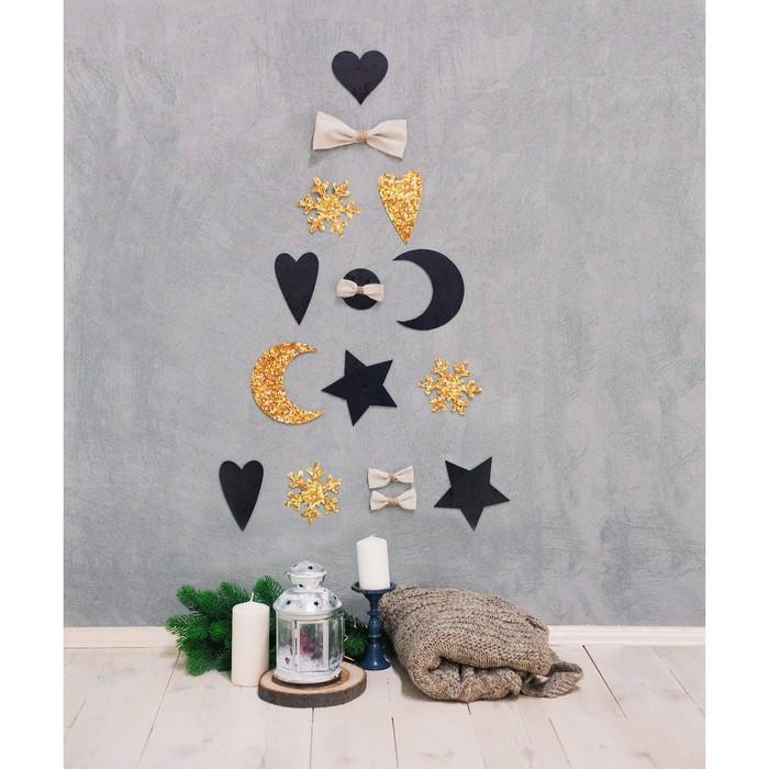 Инсталляция ёлочки в интерьере 'Отблески фейерверков', набор для декора, 21 x 29,7 см - фото 5